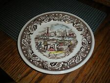 Vintage Johnson Brothers Bread Butter Plate Neighbors Clam Bake Made in England