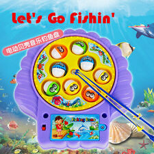 HOT Xmas Children Kids Baby Plastic Rotation Fishing Game Educational Toy Set