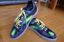 Genuine Balenciaga Iridescent Blue Mixed Media Low trainers(358038) size 42