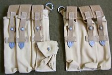 WWII GERMAN WAFFEN HEER ARMY TROPICAL MP40 MG KHAKI WEB CANVAS AMMO POUCHES