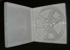 "7"" x 1/4"" Clear plastic tape reel with hinged box...BRAND NEW"