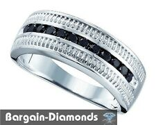 man black diamond wedding ring band .50-carat 925 business success anniversary
