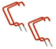 4 PC Utility Ladder Storage Ceiling Hooks - Garage Shed Tool Shop Organization