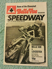 BELLE VUE SPEEDWAY PROGRAMME 1977 BELLE VUE v LEICESTER  28th MAY  9th MEETING