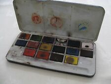 Vintage Artist Paint Box Tin Watercolour Used