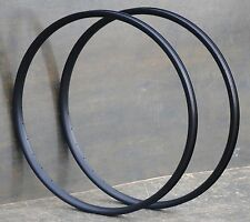 "Black 26"" 32h Velocity Blunt 35 Bicycle Rims Vintage Cruiser Mountain Bike MTB"