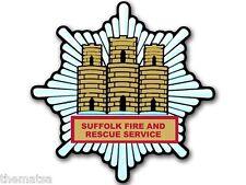 """4"""" SUFFOLK UNITED KINGDOM FIRE RESCUE BUMPER EMBLEM DECAL STICKER MADE IN USA"""