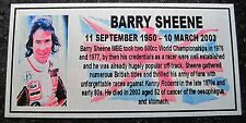 Barry Sheene NEW Silver Sublimated  Plaque Colour Photo and Flag