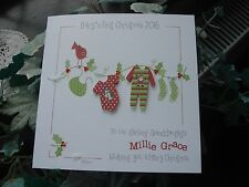 Personalised Handmade Baby's First Christmas Card