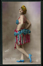 French Hand Tinted MUSIC HALL Star WALERY Photo 1925 Moulin Rouge 2 PARIS Latest
