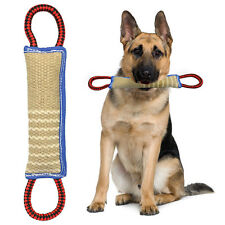 Durable Linen Pet Dog Bite Tug Toy with Handles for Police K9 Training Dogs
