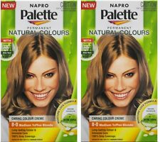 2 x NAPRO PALETTE NATURAL COLOURS PERMANENT HAIR COLOUR 8.0 MEDIUM TOFFEE BLONDE