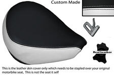 BLACK & WHITE CUSTOM FITS YAMAHA XVS 650 CLASSIC V STAR FRONT SEAT COVER