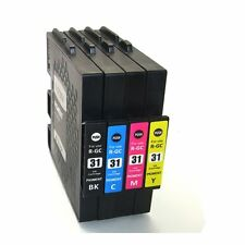 4PK Ricoh GC31 KMYC Ink Cartridges For Afico GXE3300 5500 3350 2600 7700 5550n