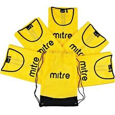 NEW CHEAP Mitre Football Training Bibs - Adults 5-a-side bib Pack with Bag SALE