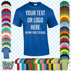 Custom Personalised Men's Printed T-SHIRT Name Funny Gift Work-Your text/logo 6