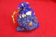 SCENTED SACHETS - NATURAL BLUE LAVENDER FLOWER DRAWER SACHETS x 10