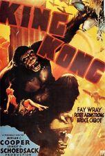 King Kong di Cooper 1933 Ristampa ufficiale Rarità Poster Film 70x100cm