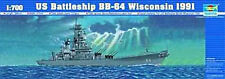 NEW Trumpeter 1/700 U.S.S. Wisconsin BB64 Battleship 05706