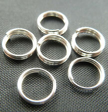 Wholesale Free Ship 1000pcs silver plated split ring 7mm
