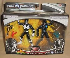 2017 Movie Mighty Morphin Power Rangers Then and Now Black Ranger Figure 2 Pack