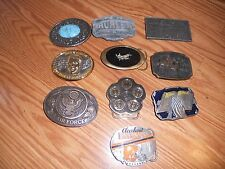 Lot of 10 Belt Buckles,Air Force, Remington,Cleveland Browns Limited Ed, Western