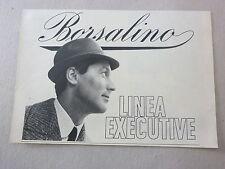 ADVERTISING PUBBLICITA' BORSALINO Linea executive  -- 1963