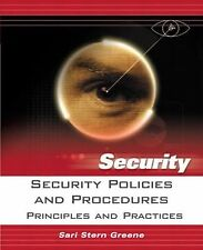 Security Policies and Procedures : Principles and Practices by Sari Stern...