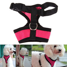 Small Dog Pet Puppy Soft Mesh Dog Harness Strap Nylon Vest Collar Free Shipping