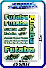 FUTABA SERVO RADIO RX TX 2.4G FLIGHT REMOTE CONTROL STICKERS FASST BLUE YELLOW B