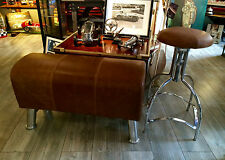 """NEU"" Sitzbank Pauschenpferd, Pommel Bench, Leder Chrom, Art Deco Industrial"