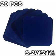 20 Pcs Sunpower Mono Solar Cells 3.2W Maxeon C60 125MM For Flexible Solar Panel