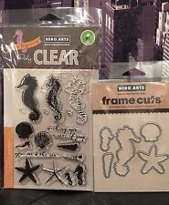 Hero Arts SEAHORSE Clear Stamps + Coordinating Frame Cuts Dies