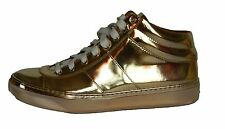 New Jimmy CHOO Mirror Gold Leather Women's Sneakers Size 9