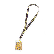 Despicable Me Minions Lanyard ID Holder Key Chain I love Minions Banana Charm