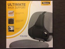 NEW (1) Fellowes Ultimate Back Support Made with Ultra Soothing Memory Foam