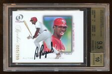 BGS 9.5 ALBERT PUJOLS 2001 LEGACY RC AUTO #D 005/799 AUTOGRAPH JERSEY# WOW