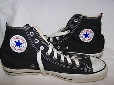 Vtg CONVERSE Chuck Taylor ALL STAR - BLACK  Made in USA  Sz 10.5   Excellent!