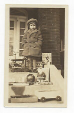 Ca. 1920's PHOTO TOYS, STEEL TOY DIGGER, COMPO SANTA, BOXED TRAIN, LINCOLN LOGS