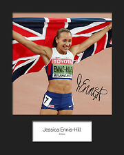 JESSICA ENNIS HILL #1 Signed 10x8 Mounted Photo Print - FREE DELIVERY