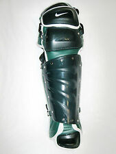 NIKE PRO 16 Gold Precision Catcher's Safey Gear FOREST GREEN LEG GUARDS