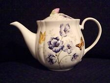 Lenox Butterfly Meadow Blue Teapot New With Tag Perfect