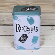 Bright Side Receipts Tin - Storage tin for receipts -Free up space in that purse