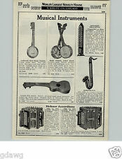 1929 PAPER AD Hohner Sax Organette Accordions Harmonicas Boy Echo Concert Chimes