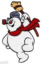 "4.5"" FROSTY THE SNOWMAN CHRISTMAS  HOLIDAY  CHARACTER FABRIC APPLIQUE IRON ON"