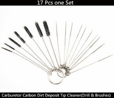 Motorcycle Carburetor Carbon Dirt Jet Deposit Remove Cleaning Cleaner Drill Tool