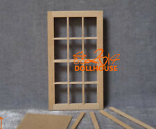 1:12 Dollhouse Miniature DIY Material Wood Window With Glass