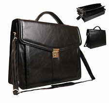 Quality New Faux Leather Business Briefcase Work Office Documents Satchel Bag