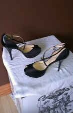 Guess peeped toed black stilettos Sz 9M