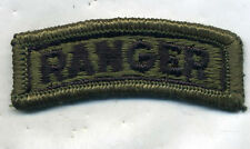 Vietnam Era US Army Ranger OD Subdued Green Tab Patch